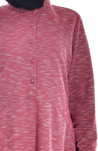 Claret red Tunic 1027-03