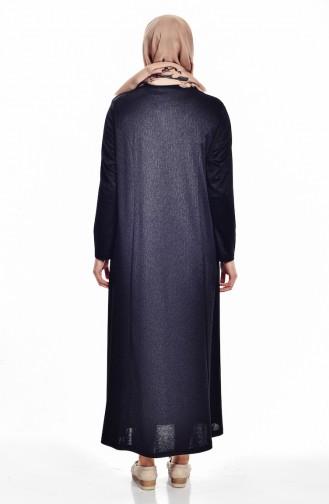 Khaki İslamitische Jurk 4424A-01