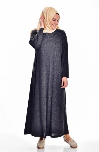 Robe avec Pierre Grande Taille 4426A-02 Khaki 4426A-02