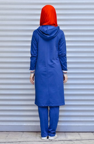 Zippered Tracksuit Suit 5000-04 Dark Blue 5000-04