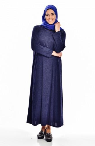 فستان بتصميم مُطبع بتفاصيل مُرصعة 4426A-04