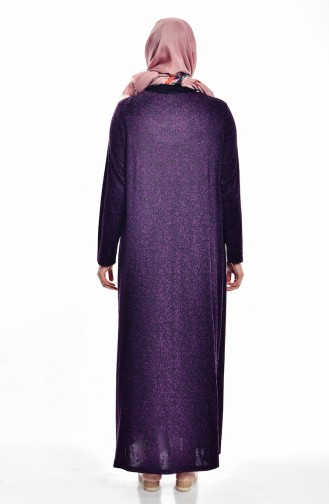 Robe avec Pierre Grande Taille 4426-03 Pourpre 4426-03