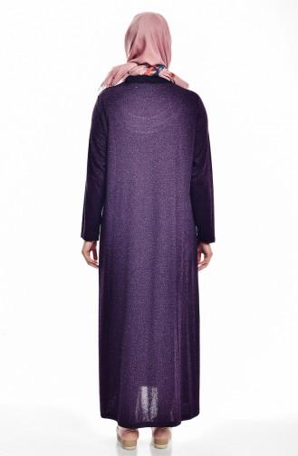 Robe avec Pierre Grande Taille 4426A-03 Pourpre 4426A-03