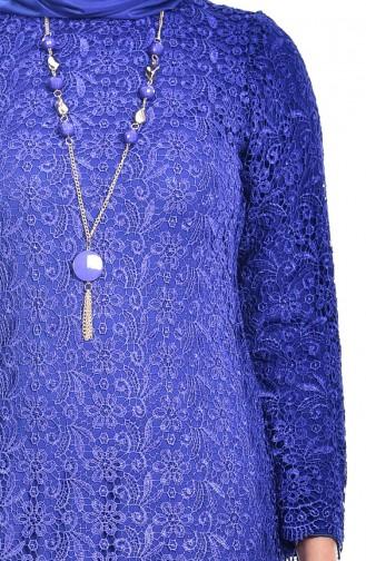 Robe a Dentelle 6092-03 Bleu Roi 6092-03