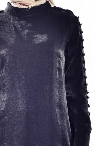 تونيك بتفاصيل أزرار 1039-03 لون أسود 1039-03