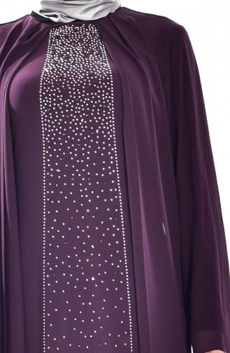 Purple Islamic Clothing Evening Dress 5919-05