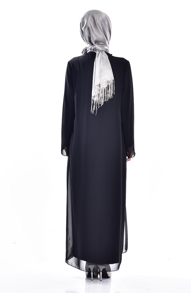 345550bb036bf Black Islamic Clothing Evening Dress 5919-04