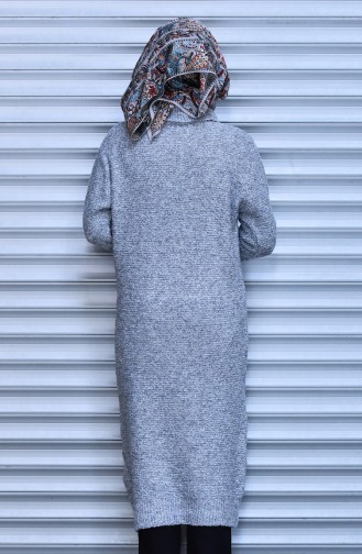 Long Pull Tricot 4022-04 Gris Clair 4022-04