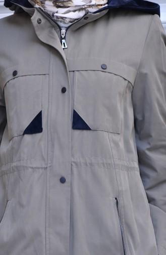 Trenchcoat mit  Reißverschluss  35767-02 Khaki 35767-02
