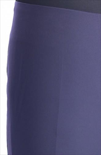 Pantalon Fermeture de Côté 2875-02 Pourpre 2875-02