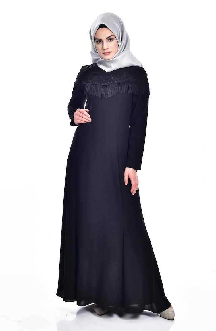 b5517e09d7b844 Black İslamitische Jurk 7537-02 ...