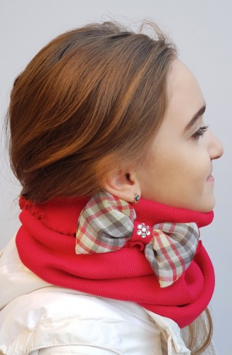 Bow Neck Collar NBO009 red 009