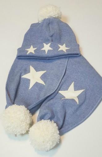 Şapka Atkı Takım NSA005 Mavi 005