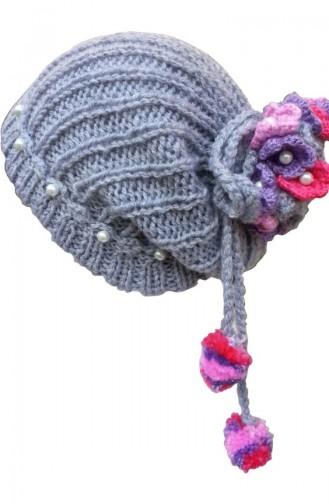 Chapeau tricoté à la Main NY04 Gris 04