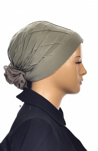Fertige Kopftuch Bonnet 1006-04 Khaki 1006-04