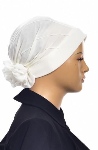 Nervürlü Turban Bonnet Prêt 1006-02 Creme 1006-02