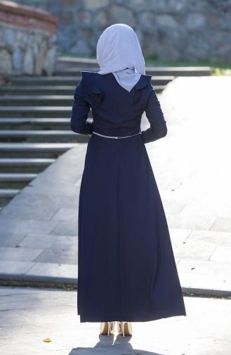 Robe a Ceinture 7546-06 Bleu Marine 7546-06