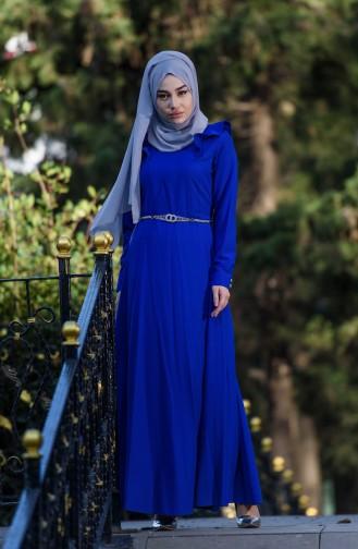 Robe a Ceinture 7546-05 Bleu Roi 7546-05