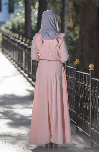 Kleid mit Gürtel  7546-02 Lachs 7546-02