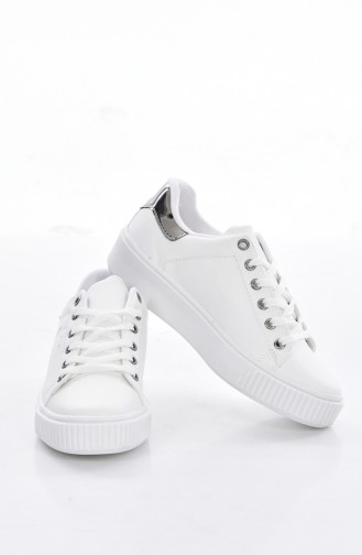 White Sport Shoes 0778-08