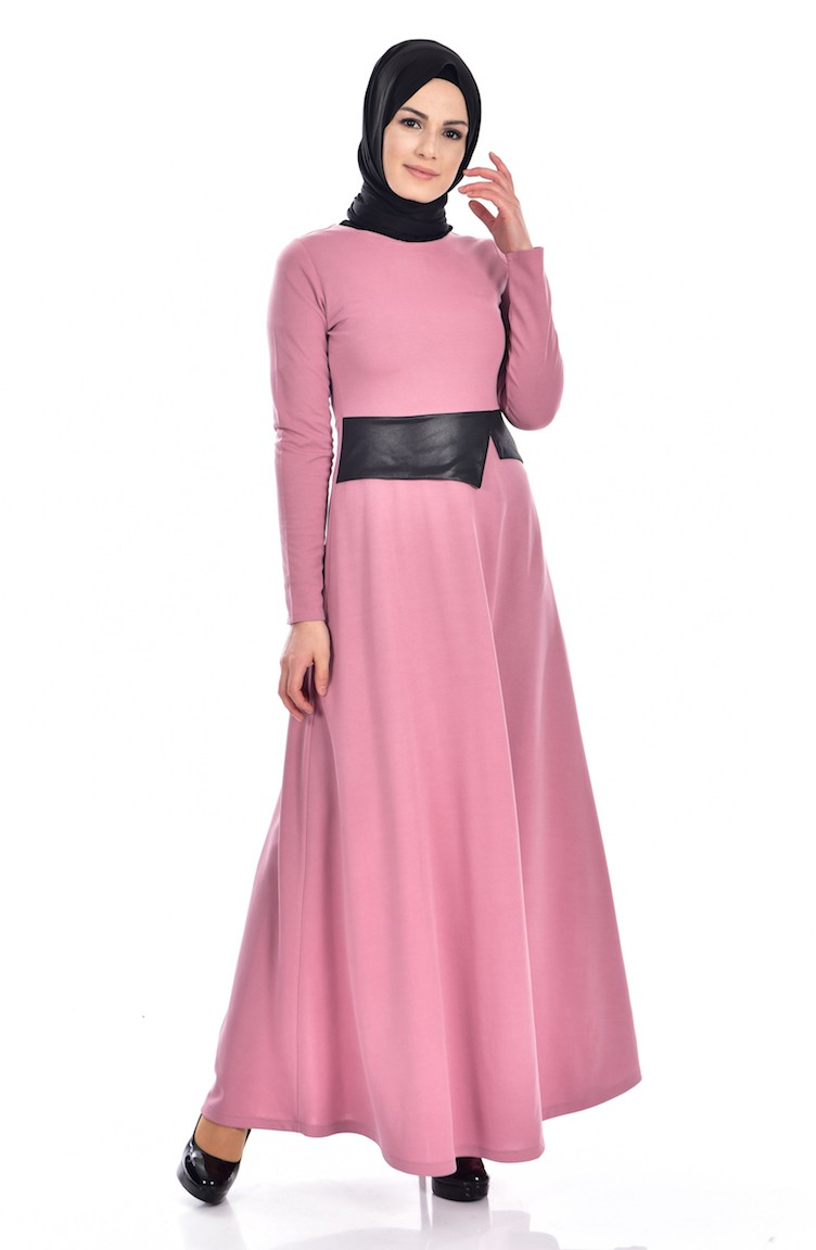 db6f1e840e43c Dusty Rose Dress 2139-05