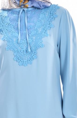 Tunique a Dentelle 5010-02 Bleu 5010-02