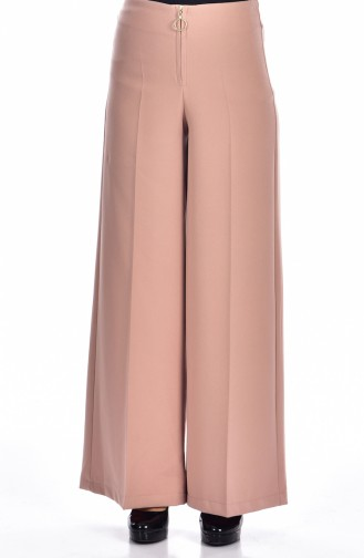 Pantalon a Fermeture Large  3095-08 Rose Pâle 3095-08