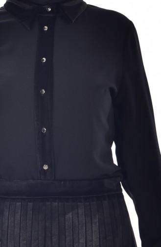 Gömlek Etek İkili Takım 8001-01 Siyah 8001-01