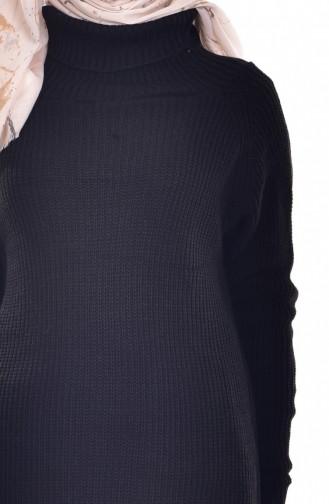 Turtleneck Knitwear Sweater 2017-02 Black 2017-02