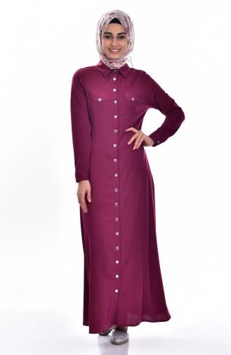 فستان ارجواني داكن 3431-02