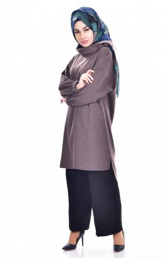 Yarasa Kol Tunik 61026A-01 Kahverengi