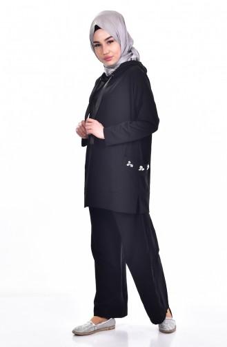 Sweatshirt a Capuche 8620-01 Noir 8620-01