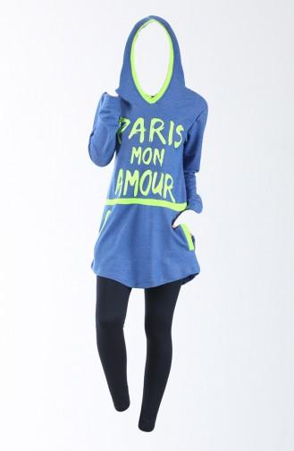 Pijama Set 8070-01 Blau 8070-01