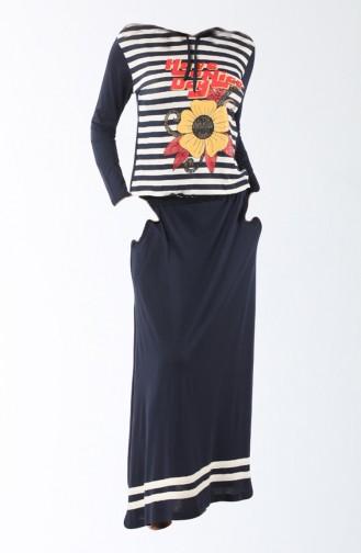 Navy Blue Pyjama 8109-01