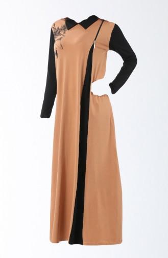 Light Tobacco Brown Pyjama 8134-01