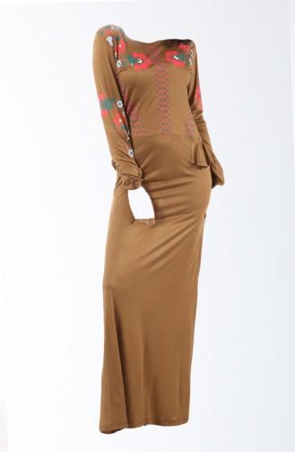 Freizeit Kleid  8135-01 Braun 8135-01