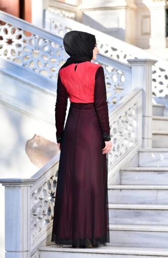 Red İslamitische Avondjurk 99135-02