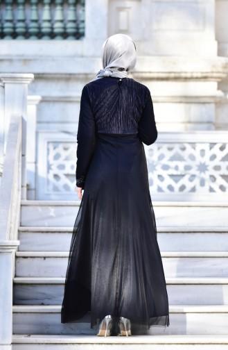Hijab  Abendkleid  99135-09 Dunkelblau 99135-09