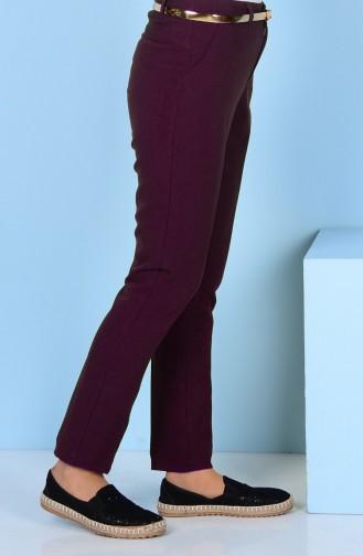Pantalon a Ceinture 2067-06 Plum 2067-06