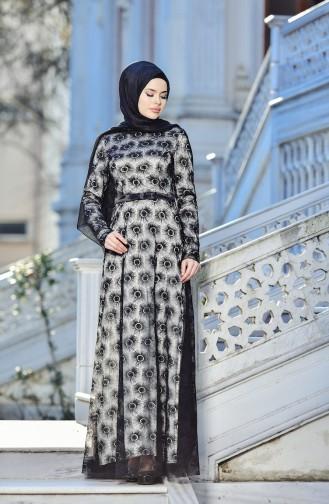 Black İslamitische Avondjurk 10016-05