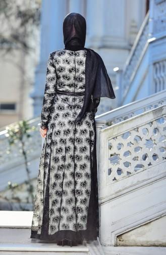فساتين سهرة بتصميم اسلامي أسود 10016-05