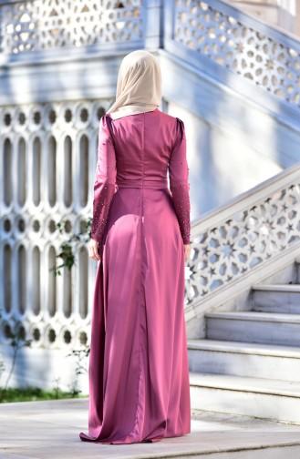 Abendkleid mit Swarovski Steindetail  4473-01 Rosa 4473-01