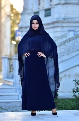Robe de Soirée 4476-03 Bleu Marine 4476-03