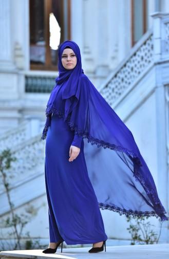 Robe de Soirée 4476-06 Bleu Roi 4476-06