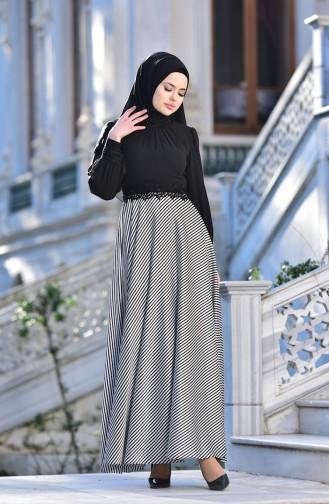 Black İslamitische Avondjurk 4411-01