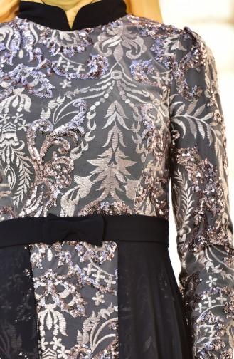 Chiffon Abendkleid mit Pailetten   441488-03 Schwarz 441488-03