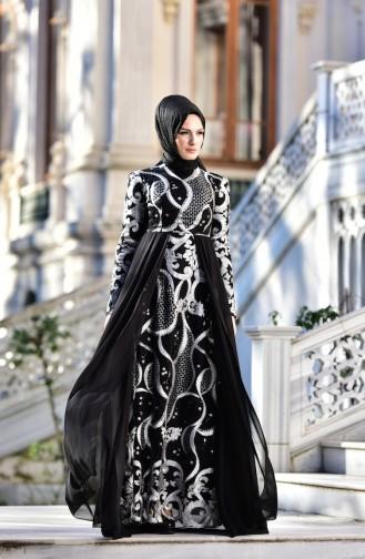 فستان يتميز بتفاصيل من الترتر الامع 7622-03