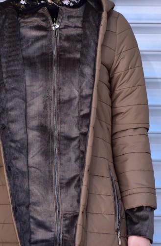 SUKRAN Hooded Quilted Coat 35780-04 Maroon 35780-04