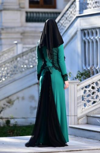 Habillé Hijab Vert 4339-01