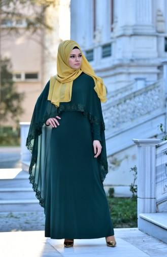 Robe de Soirée 4476-07 Vert emeraude 4476-07